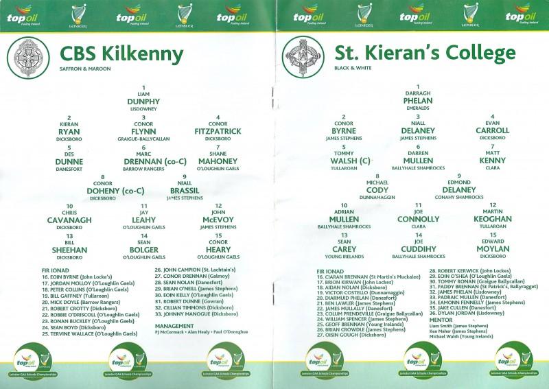 Leinster Final Match Programme